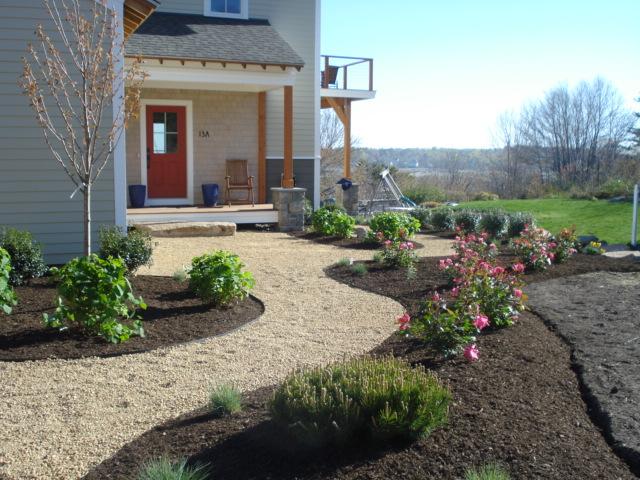 Pea Stone Path Plantings