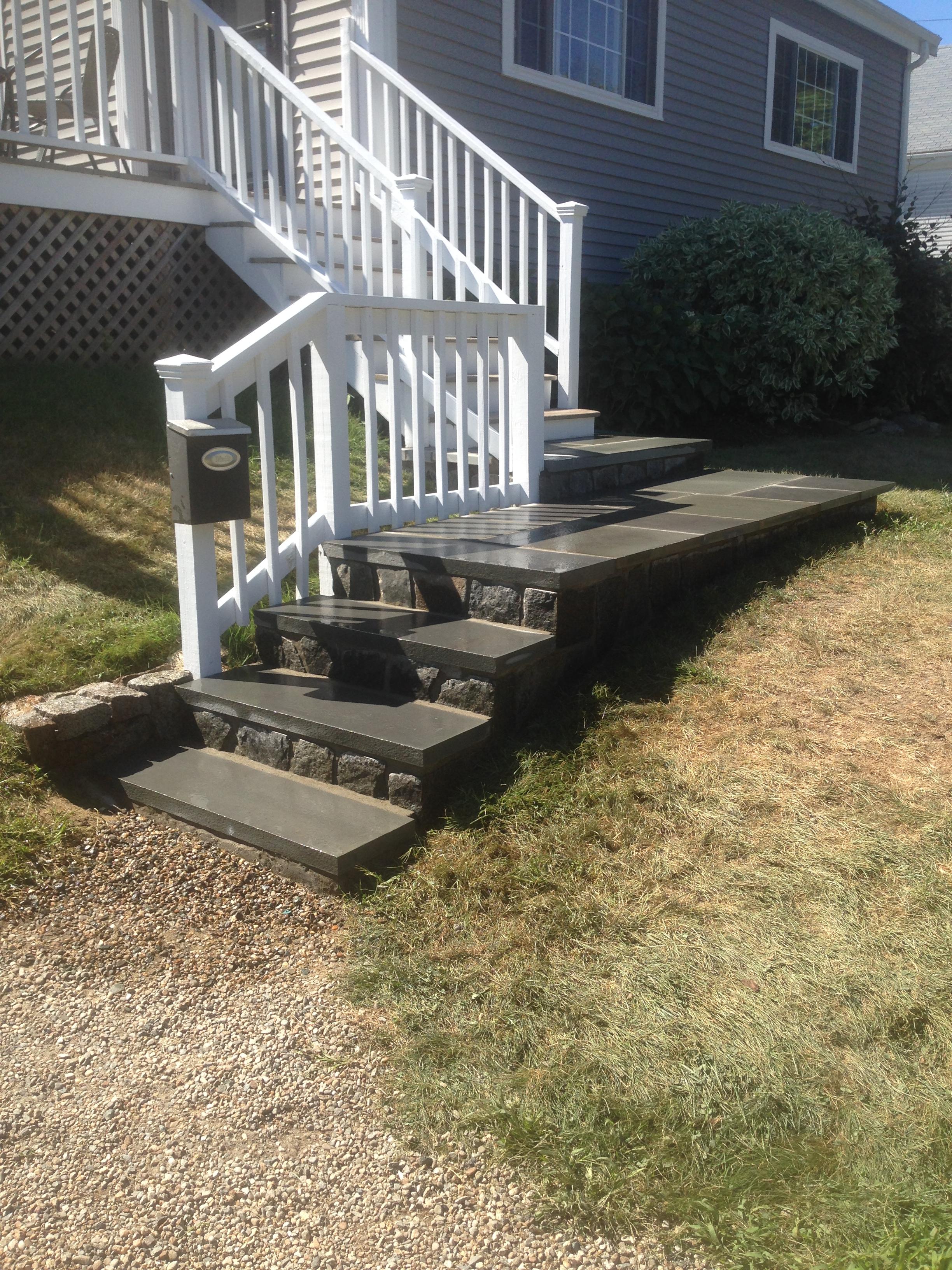 Bluestone walkway & veneer