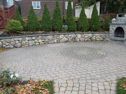 Pavers with Wall and Fireplace