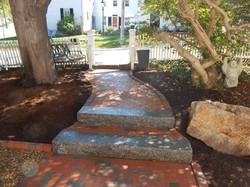 Antique Brick and Granite Walk