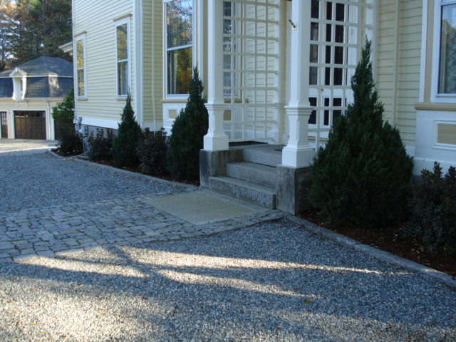 Granite Curbing and Landing