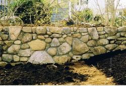 Fieldstone Mortared Wall