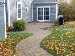 Recycled Brick Walk and Patio
