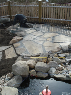 Flagstone Pond Patio