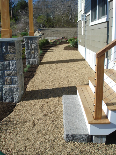 Washed Stone Walkway
