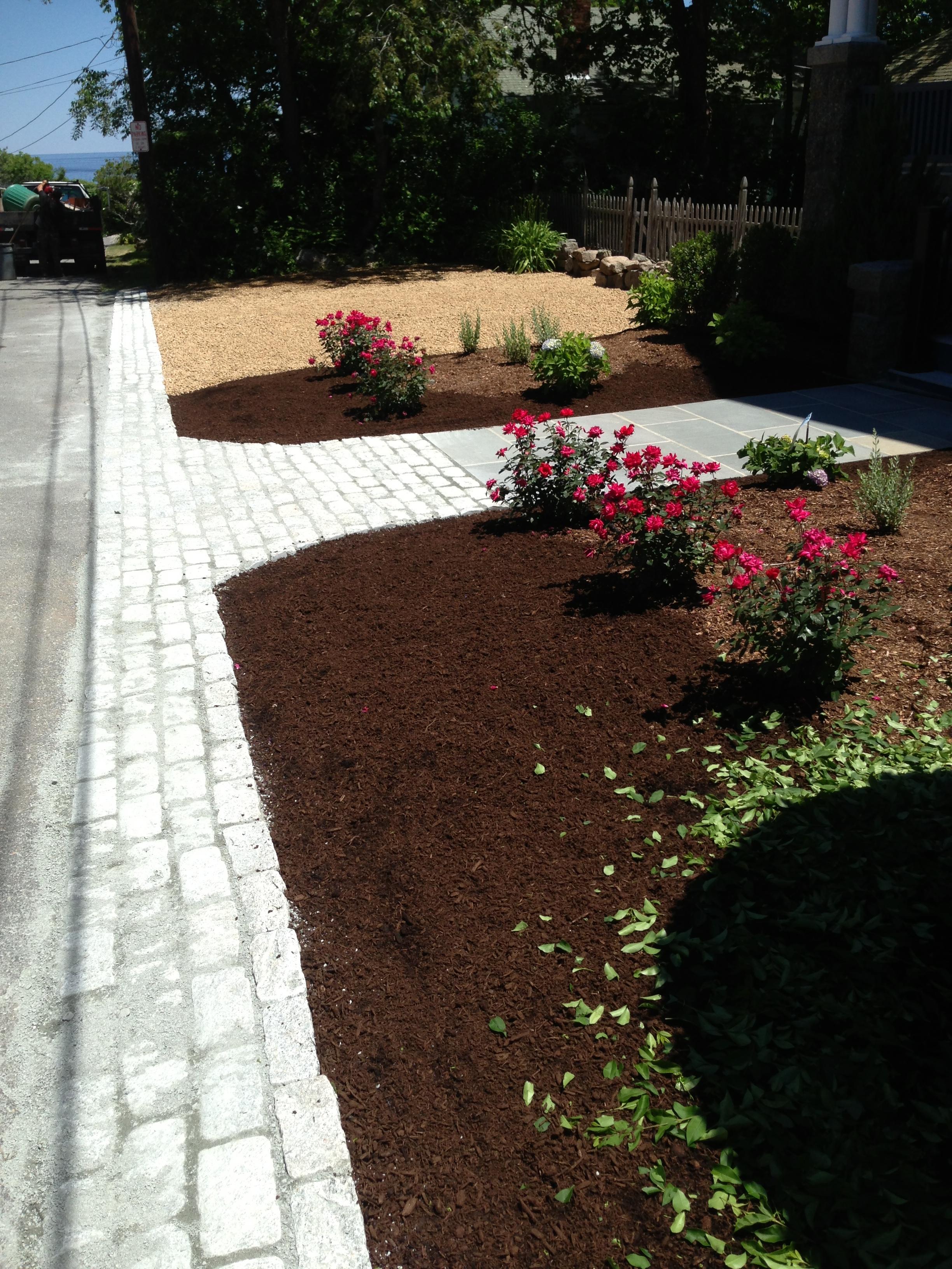 Cobbles Apron & Bluestone Walkway