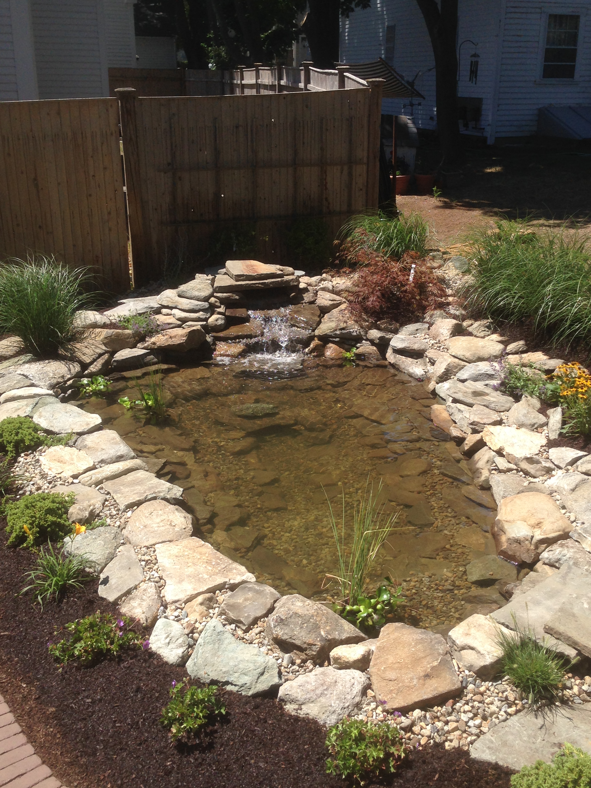 River Rock Pond Surround