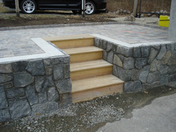 Veneer Stone Concrete Patio Wall