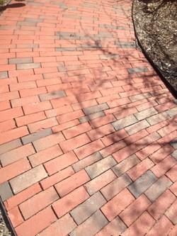 New Brick Radius Walkway