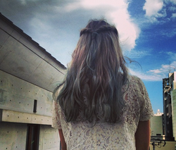 blue sky blue hair