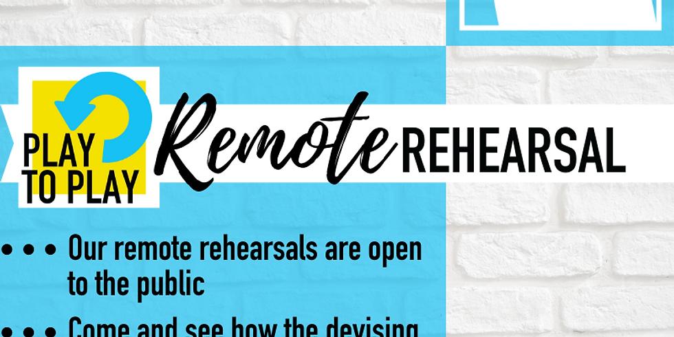 Play To Play Rehearsal, Saturday