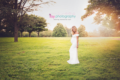 Maternity photography, white maternity dress, golden hour, outdoor, newborn photographer, maternity posing ideas
