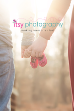 Maternity photography, red dress, gown,  forest, golden hour, maternity posing ideas, collage, dad, family, pregnancy, pink shoes, baby shoes
