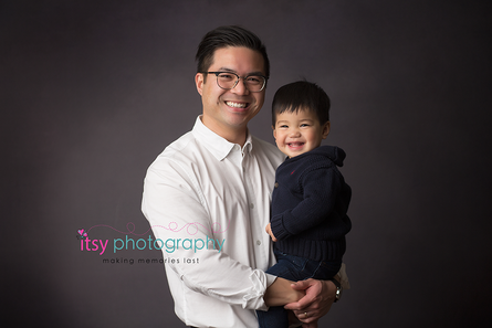 studio photography,  dad, toddler, big brother,