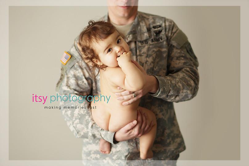 baby photographer, newborn photographer, infant photographer, dc photographer, 1 year old one year old posing ideas, dad, army