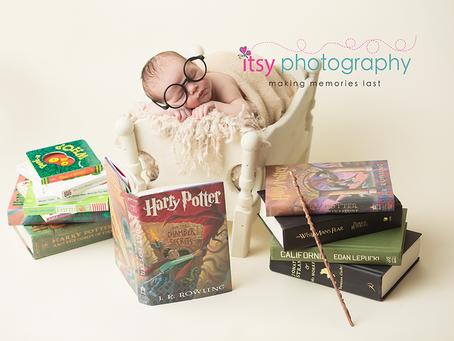 Alexanders Harry Potter Newborn Session ~ DC, VA, MD Newborn Baby Family Photographer
