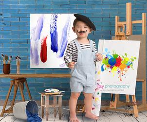 Itsy Photography, Professions, careers, when i grow up, dream job, pretend, Photoshop, composite image, artist, painter, paint, canvas, paintbrush. paint pallet