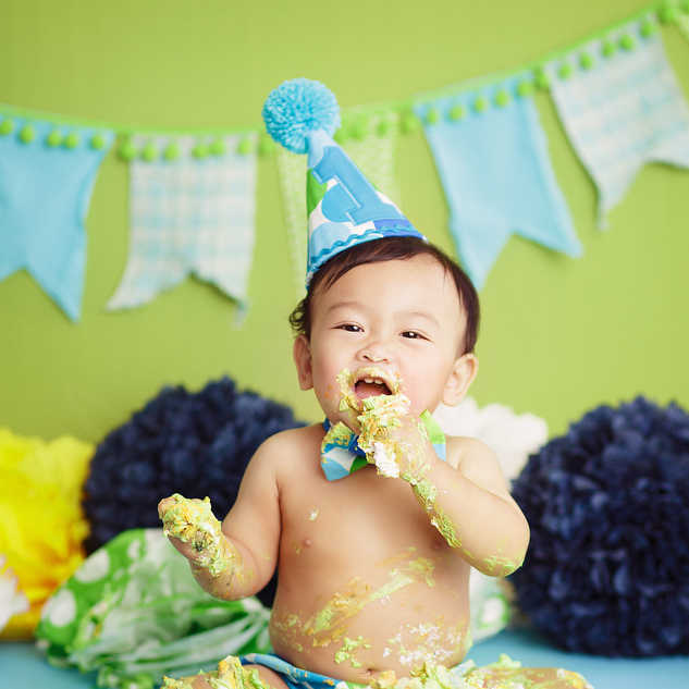 green monster cake baby boy smash ideas.
