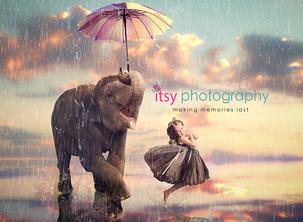 Itsy Photography, Professions, careers, when i grow up, dream job, dancer, circus, elephant, surreal, surrealism, umbrella.