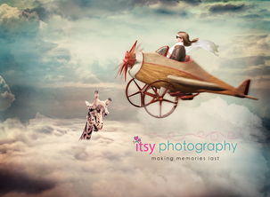 Itsy Photography, Professions, careers, when i grow up, dream job, pilot, flying, airplane, steampunk, surrealism, surreal, giraffe, clouds, aviation, aviator