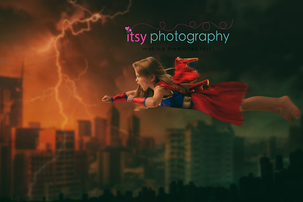 Itsy Photography, Professions, careers, when i grow up, dream job, pretend, Photoshop, composite image, city, storm, lightning, super girl, wonder woman, superhero, super powers, girl power
