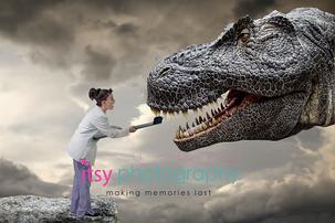 Itsy Photography, Professions, careers, when i grow up, dream job, pretend, Photoshop, composite image, dentist, dinosaur, Tyrannosaurus rex, toothbrush