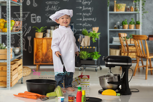 Itsy Photography, Professions, careers, when i grow up, dream job, pretend, Photoshop, composite image, chef, cook, chef hat, mixer, kitchen aid, vegetables, kitchen aid, mixer, cooking