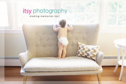 Family photographer, baby photographer, girl, in home, window light,  couch