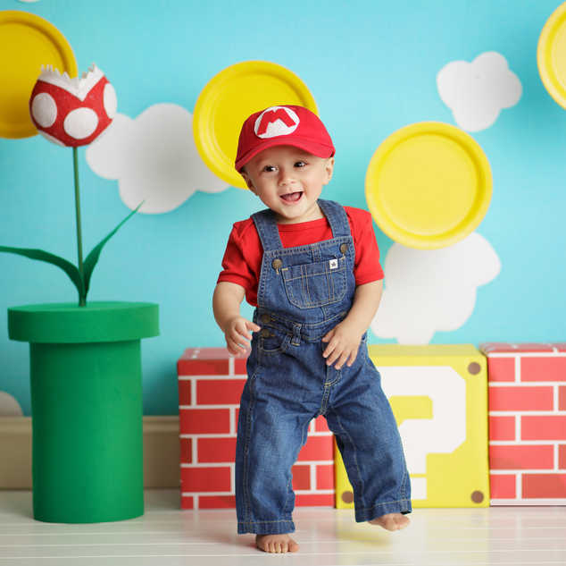 mario brothers vintage theme baby boy pa