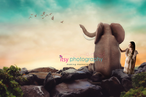 Itsy Photography, Professions, careers, when i grow up, dream job, pretend, Photoshop, composite image, elephant, surreal, surrealism