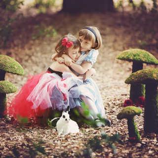 Alice in Wonderland Deep Rich Dusk Retro