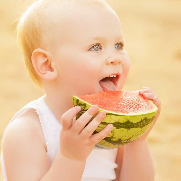 watermelon baby girl laughing.jpg