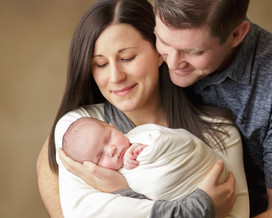 Newborn photographer, baby photography, infant photography, newborn boy, cream wrap, newborn posing ideas, dad and mom