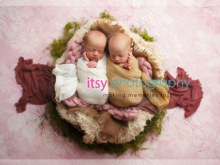 Cora and Lucy Twin Girls ~ DC, VA, MD Newborn Baby Family Photographer