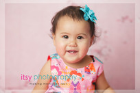 Newborn photographer, baby photography, infant photography, one year old girl, studio photography, pink backdrop,