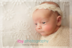 Newborn photographer, baby photography, infant photography, newborn girl, white headband  white floral backdrop,  cream wrap, baby wrapping ,studio  photography, newborn posing ideas,