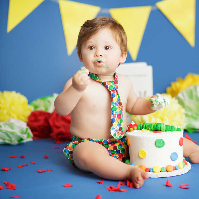 hungry caterpillar cake smash baby boy i
