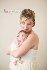 Newborn photographer, baby photography, infant photography, newborn girl, cream backdrop, mom and baby,