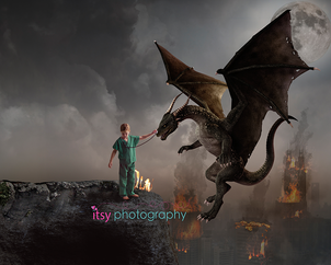 Itsy Photography, Professions, careers, when i grow up, dream job, doctor, dragon, medieval, pretend, Photoshop, composite image