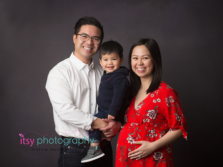 Maternity Studio Session of _T_Family of 3 ~ DC, VA, MD Newborn Baby Family Photographer