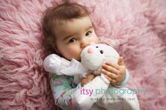 baby photographer, newborn photographer, infant photographer, dc photographer, 1 year old one year old posing ideas, , pink flokati, onsie, sheep, pajamas, girl