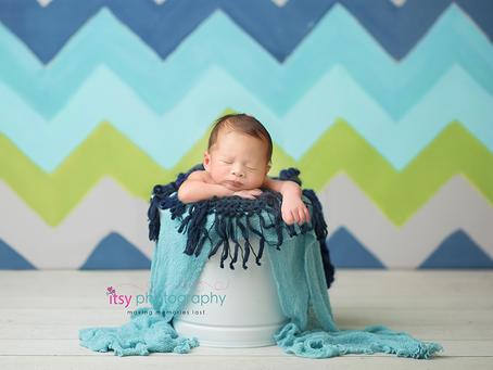 Newborn Boy Studio Session ~ DC, VA, MD Newborn Baby Family Photographer