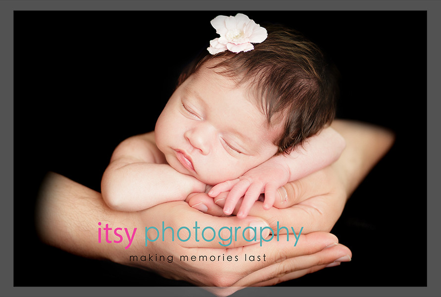 baby photographer, newborn photographer, infant photographer, dc photographer, new born, boy, girl, infant, baby, newborn posing ideas, baby wrapping, parents hands, black backdrop, floral headband