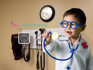 Itsy Photography, Professions, careers, when i grow up, dream job, doctor, pretend, Photoshop, composite image, stethoscope,