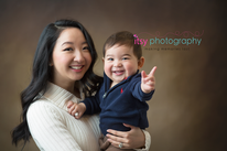 Family Photographer, baby photographer, dc photographer,  brown backdrop, mom and dad, one yer old, baby boy