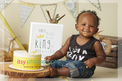 Maryland photographer, Dc photographer, silver spring photographer, Cake Smash, where the wild things are, boys,  ill eat you up i love you so, gold cake, first birthday, banner, tent, ombre cake