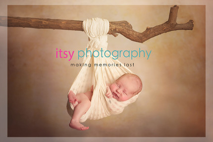 Newborn photographer, baby photography, infant photography, newborn boy, cream wrap, baby wrapping, newborn posing ideas, branch, hanging,