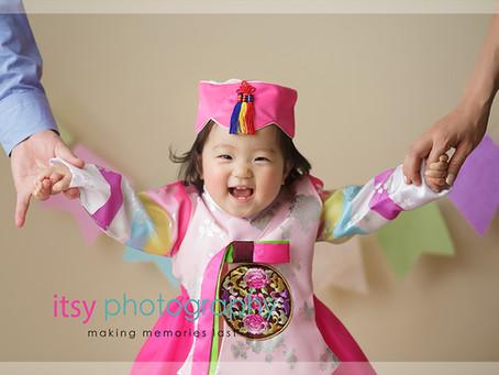 Baby Ella Traditional Korean Dress ~   DC, VA, MD Newborn Baby Family Photographer
