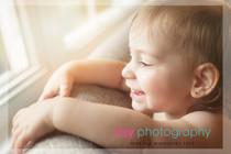 Family photographer, baby photographer, girl, in home, window light