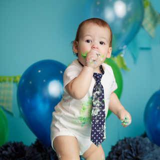 blue navy green polkadot baby boy cake s